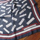 Vintage The Presidents Signature Scarf Red White Blue