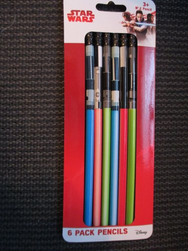 Star Wars Boxed Set of 6 #2 Pencils LIGHTSABERS