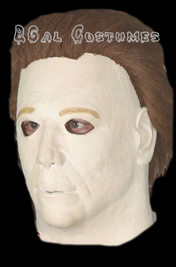2008 Michael Myers White Halloween Mask~Movie~Costume