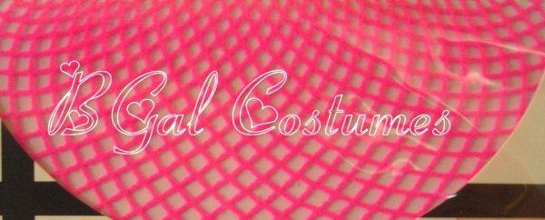 Hot Pink Fishnet Pantyhose~Hose~Stockings~One Size~Halloween