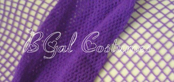 Grape Purple Fishnet Pantyhose~Hose~Stockings~One Size~Halloween