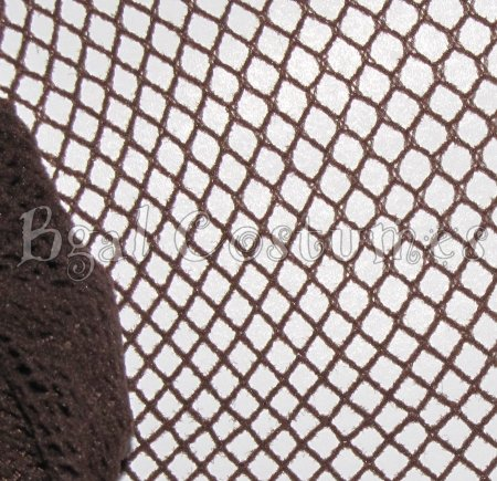 Chocolate Brown Fishnet Pantyhose~Hose~Stockings~One Size~Halloween
