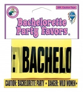 BACHELORETTE PARTY 20 FEET CAUTION TAPE~BANNER~SUPPLIES