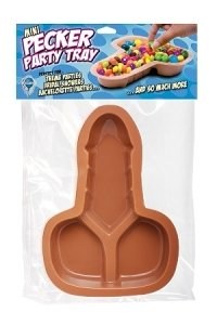 Set of 3 Penis Shaped Party Trays~Pecker~Bachelorette Party Supplies