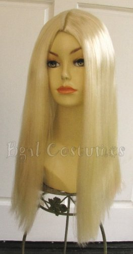 Long Blonde Halloween Costume Wig~Alice in Wonderland