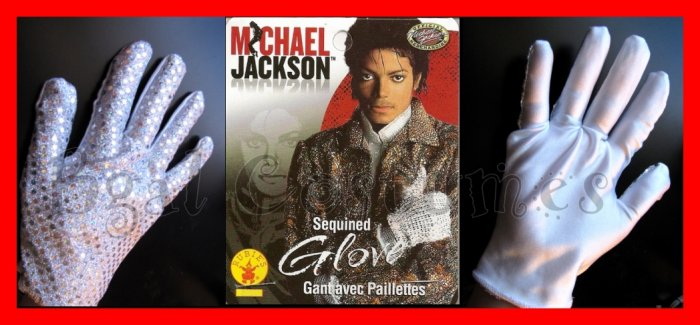 OFFICIAL LICENSED Michael Jackson Sequin Costume Glove~Halloween~Sequined