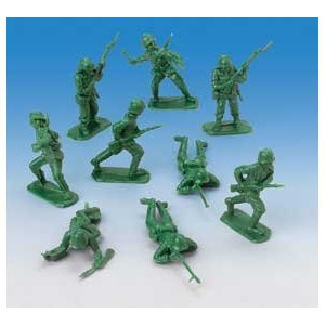 HUGE LOT 144 LITTLE GREEN ARMY MEN TOYS~TOY SOLDIERS~STORY~MILITARY PARTY FAVORS