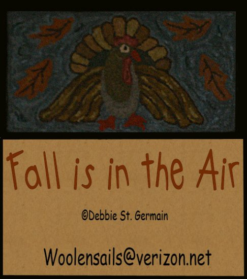 """Rug Hooking & Punch Needle Pattern EBooklet """"Fall is in the Air"""""""