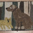 Antique Cat and Dog