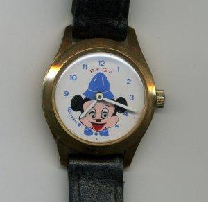REGA Israel Watch Mickey Mouse Vintage wind up OLD