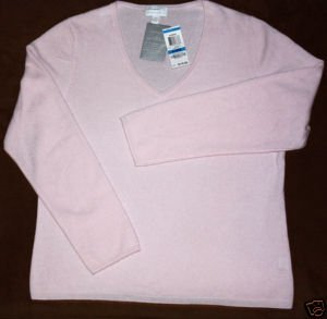 Charter Club Cashmere NWT Misses Sweater XL Pink