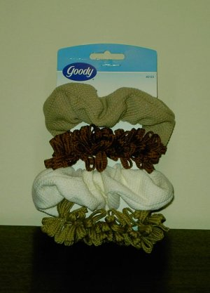Set of 4 Hair Scrunchies by Goody Ponytail holder