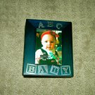Burnes 4x6 ABC Baby Frame photo album NAVY