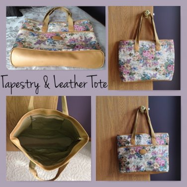 Hampshire Floral Tapestry & Leather Tote
