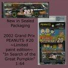 Tony Stewart #20 PEANUTS 2002 Home Depot Grand Prix 1:64 Scale