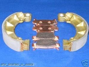 HONDA BRAKES 05-08 TRX500 TRX 500 FOREMAN RUBICON FRONT BRAKE PADS & REAR SHOES #2-1090S-1-1118