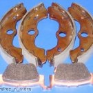 HONDA BRAKES RINCON 650 FRONT SHOES & REAR BRAKE PADS #2-1129-1-1084 W/S