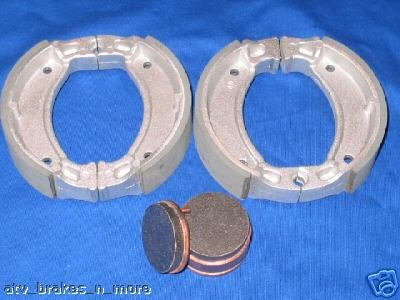 YAMAHA BRAKES 88-02 BLASTER YFS200 YFS 200 FRONT SHOES & REAR BRAKE PADS #2-2206-1-2034S