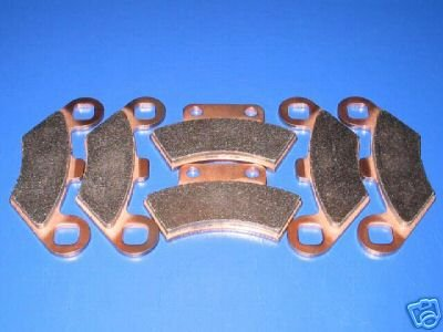 POLARIS BRAKES 94-97 SPORTSMAN 400 L 4x4 400L FRONT & REAR BRAKE PADS #2-7036S-1-7037S