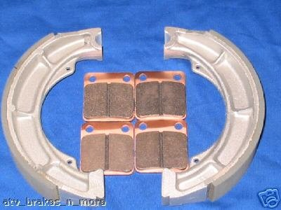 YAMAHA 07-08 YFM 250 BIG BEAR FRONT & REAR BRAKE SHOES PADS #2-1012-1-2226