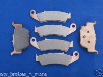 04-09 HONDA BRAKES TRX450R 450R FRONT & REAR BRAKE PADS 2-185-1-373