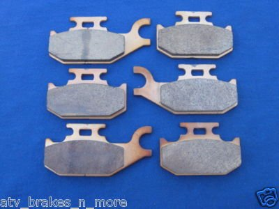 BOMBARDIER CAN AM BRAKES 04-05 OUTLANDER 330 FRONT & REAR BRAKE PADS #2-2049S-1-7064S