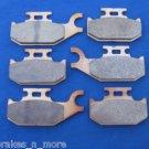 CAN AM BRAKES 08-09 RENEGADE 500 4X4 EFI FRONT & REAR BRAKE PADS #2-2049S-1-7064S