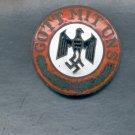 Genuine Enamel Nazi God With Us Badge screw back Hitler Gott Mit Uns