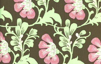 Amy Butler Daisy Chain Brown Sweet Jasmine Fabric 1 Yard