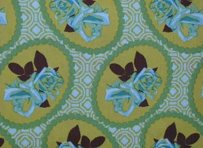 Anna Maria Horner Green Garden Party Waltz Fabric 1 Yard