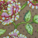 SALE Heather Bailey Fresh Cut Brown Bold Floral Fabric 1 Yard