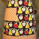Cute Apple Pear and Polka Dot Apron