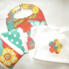 Summer in the City Baby Gift Set Onesie Bib Burp Cloth