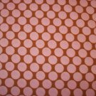 Amy Butler Lotus Full Moon Camel Pink Polka Dot 1 Yard