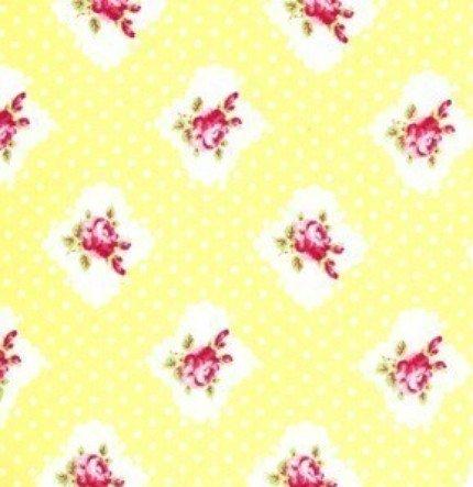 Tanya Whelan Darla Yellow Rosie Dot Fabric 1 Yard