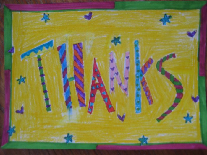 Colorful Thanks Handmade Card