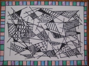 Black and White Shapes Handmade Card