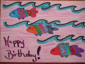 Happy Birthday Fish Handmade Card