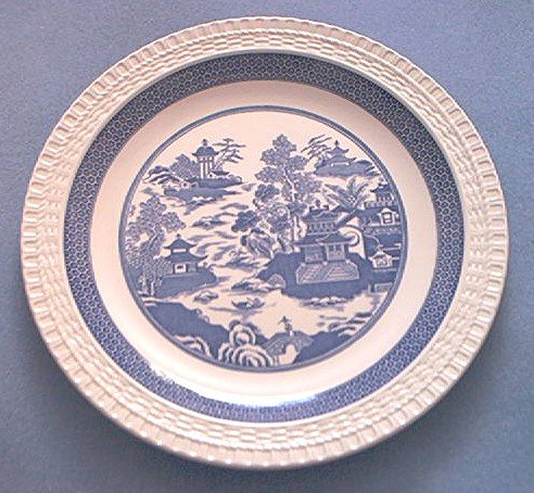 Spode~Blue Room Collection~Blue Willow Series~Plate~Temple Landscape~BLUE AND WHITE