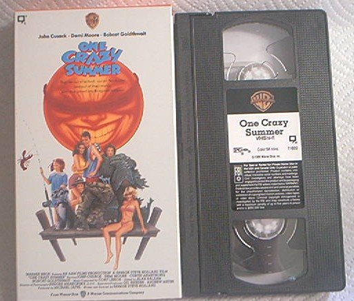 ONE CRAZY SUMMER~VHS~JOHN CUSACK~DEMI MOORE~JEREMY PIVEN~1987