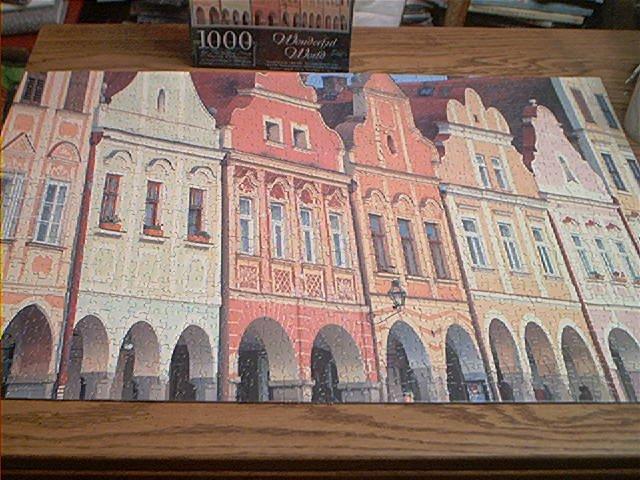 WONDERFUL WORLD 1000 PC JIGSAW PUZZLE - TRADITIONAL VILLAGE CZECH REPUBLIC -COMPLETE