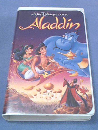 ALADDIN~VHS~ANIMATED CLASSIC~FAMILY~BLACK DIAMOND EDITION Disney