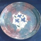 SPONGED PAINTED POTTERY TRAY ~SIGNED ~ VIOLETS