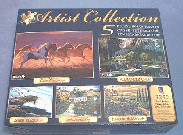 ARTIST COLLECTION~JIGSAW PUZZLE~ALEXANDER CHEN ANN STOOKEY STEWART SHERWOOD~ALL 5 COMPLETE