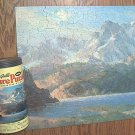 VINTAGE DELUXE GUILD PICTURE PUZZLE~JIGSAW PUZZLE~PUZZLE IN A CAN~SIERRA MORN~HAS ALL PCS