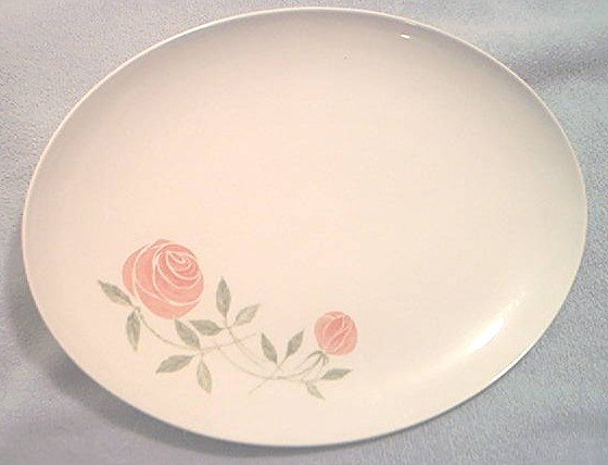 FRANCISCAN WHITESTONE WARE PINK-A-DILLY PLATTER ~ROSE ~PRETTY