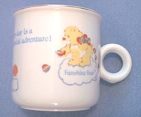 CARE BEARS EVERY DAY IS A SPECIAL ADVENTURE MUG ~ 1984