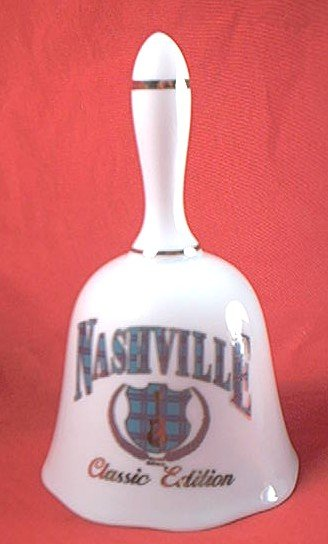 NASHVILLE, TENNESSEE BELL~DECORATIVE~MADE IN JAPAN~SOUVENIR
