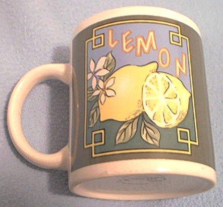 GIBSON HOUSEWARES LEMON MUG ~LEMONS ~FRUIT