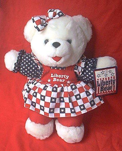 FOURTH OF JULY LIBERTY TEDDY BEAR ~1998 ~CUTE